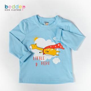 Áo thun trơn tay dài Beddep Kids Clothes cho bé trai từ 1 đến 8 tuổi BP-B06 thumbnail