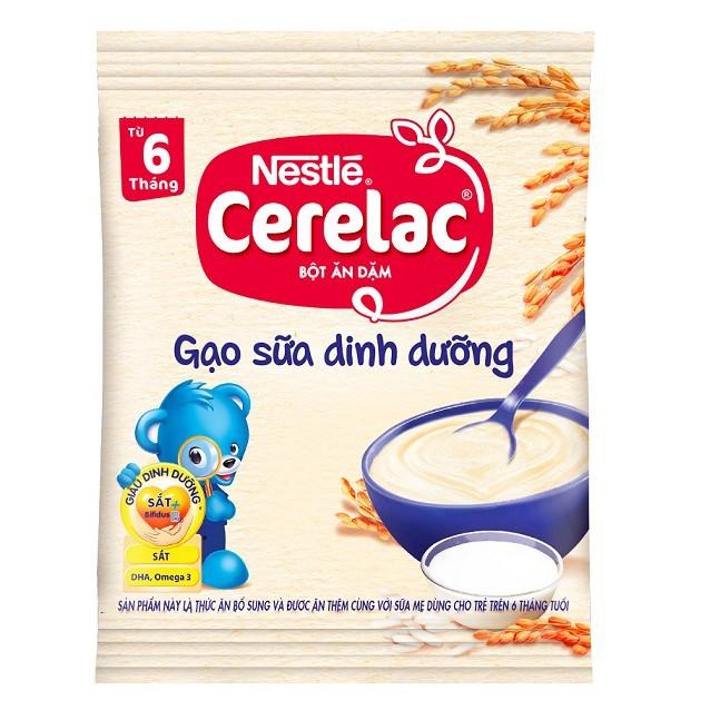 [MKB Gift] Combo 2 gói Bột ăn dặm Nestle CERELAC Gạo Sữa Dinh Dưỡng 20g/gói