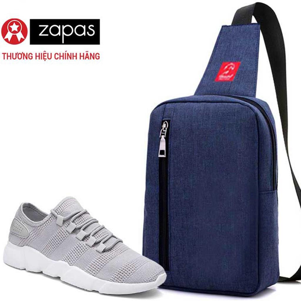 Combo Túi Messenger Thời Trang Glado DCG026 (Màu Xanh) + Giày Sneaker GS081 (Xám)