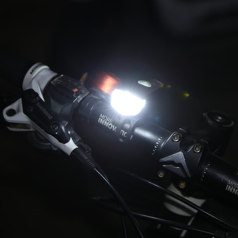 ABS Mountain Bike Headlight USB Rechargeable Super Bright Night Riding Tool