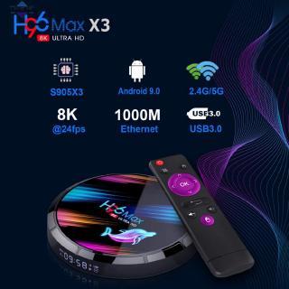 Hot selling H96 MAX X3 Smart TV Box S905X3 2.4G/5G Dual Frequency Wifi BT4.0 Media Set Top Box 4+32GB/64GB/128GB for An-droid 9.0 【Tonglian】