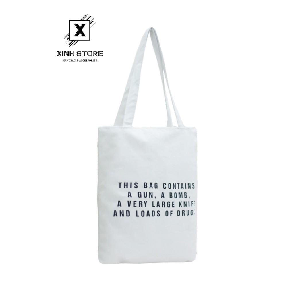Túi Vải Đeo Vai Tote Bag This Bag Kem