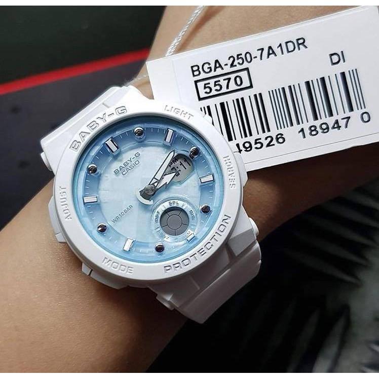 [Mã FARSBRT52 giảm 20% đơn từ 249K] Đồng hồ Casio Baby-G Nữ BGA-250-7A1DR chính hãng chống va đập - Bảo hành 5 năm - Pi