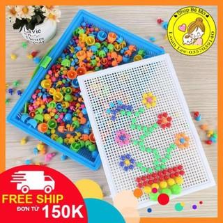 [FREESHIP từ 150K] Đồ chơi xếp hình nấm thông minh 296 chi tiết cho bé SHOP BÉ MỠ
