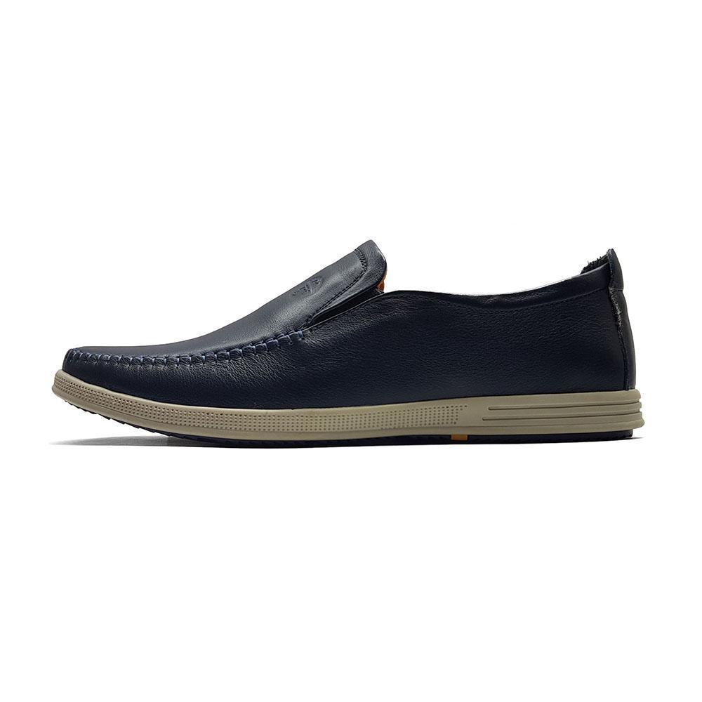 Giày Lười Nam Nhập Khẩu Da Thật Nguyên Miếng Ensado GL03MC (Đen-Xanh)