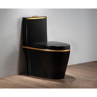 Bồn cầu đen vàng, bệt vệ sinh đen vàng