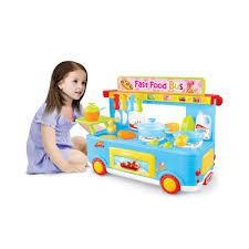 [CÓ SẴN] Xe đồ chơi nấu bếp Fast Food Bus 33 chi tiết