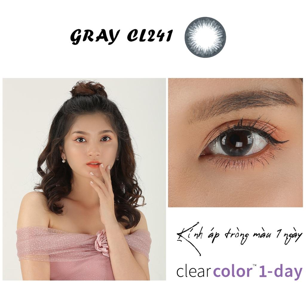 Kính Áp Tròng Màu Dùng 1 Ngày Clearlab Mỹ - Gray CL241 - Lens Màu Xám Tự Nhiên