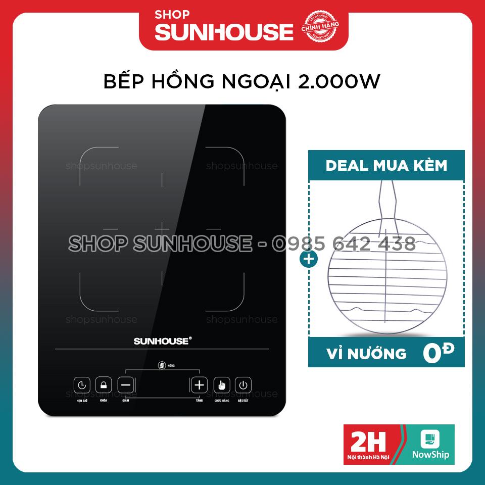 Bếp hồng ngoại cảm ứng SUNHOUSE SHD6015 giá cạnh tranh