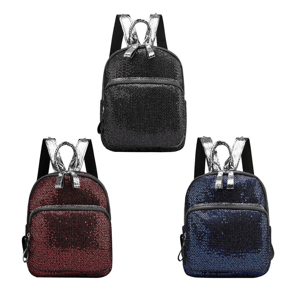 Glitter Sequins Bapa Women Girls Nylon Travel Casual Small Schoolbags Quilety.vn♫♬♪