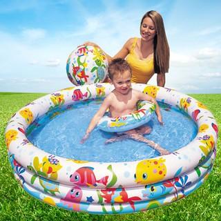 Bể Bơi Phao 3 Chi Tiết Kèm Bóng Và Phao Bơi Cho Bé – Bể phao cầu vòng kèm bóng và phao – đồ dùng sinh hoạt cho bé