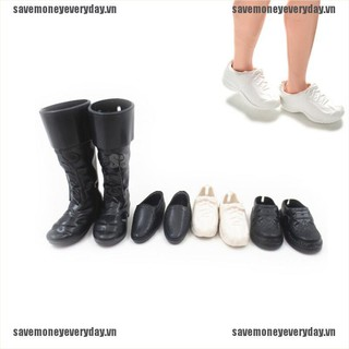 [🍄🍄Save] 4 Pairs/Set Dolls Cusp Shoes Sneakers Knee High Boots for Boyfriend Dolls [VN]