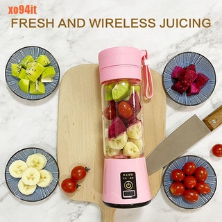 400ml Sports Bottle USB Rechargeable 4/6 blades Portable Electric Juicer