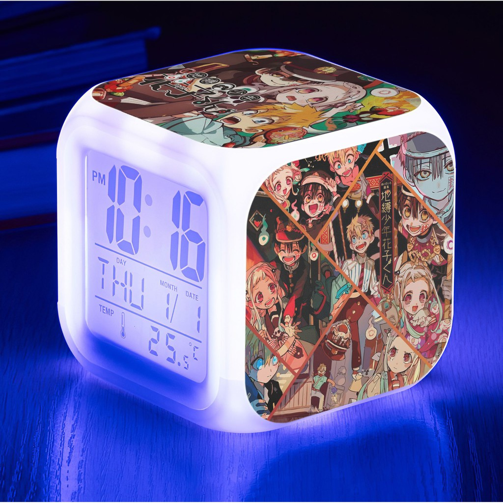 Đồng hồ LED báo thức Jibaku Shounen Hanako-kun - Hanako Cậu Ma Nhà Xí (tặng  kèm pin) - Đồng hồ để bàn