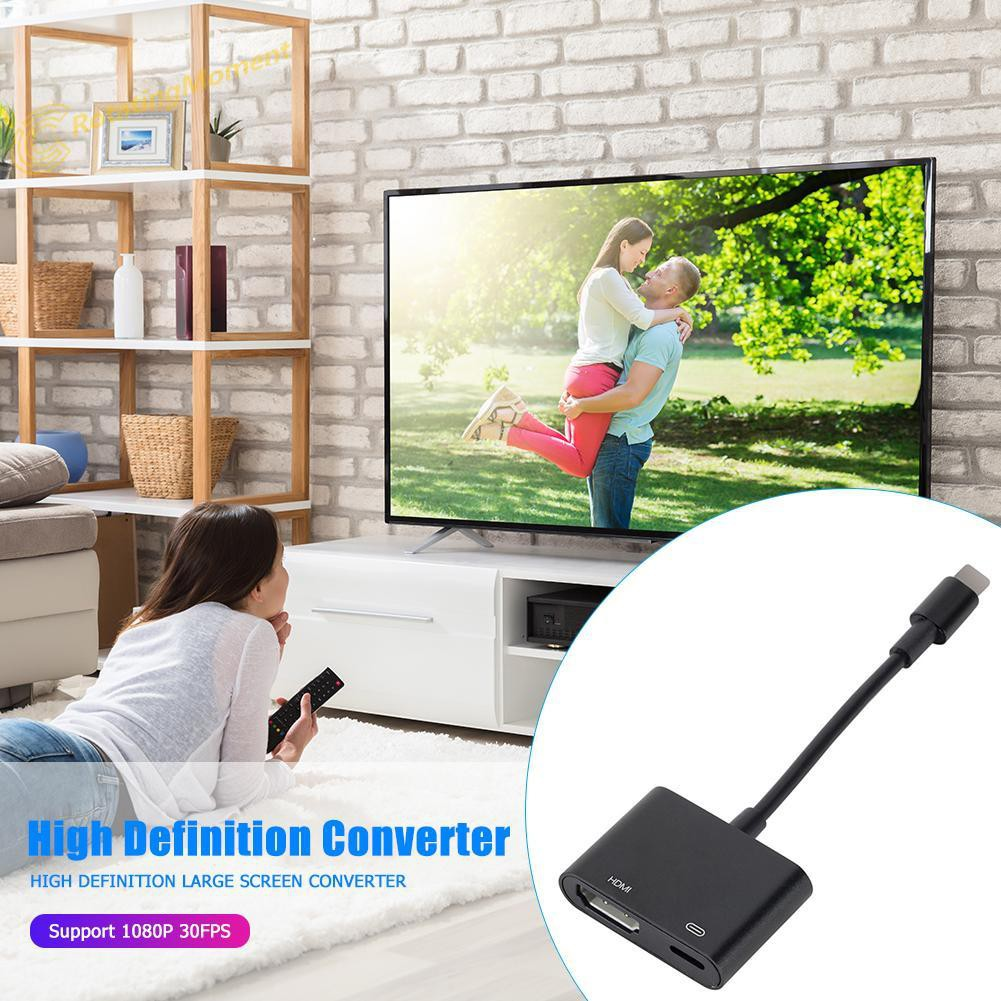 8 Pin to HDMI Adapter Cable 1080P HD Audio Video Converter for TV Monitor