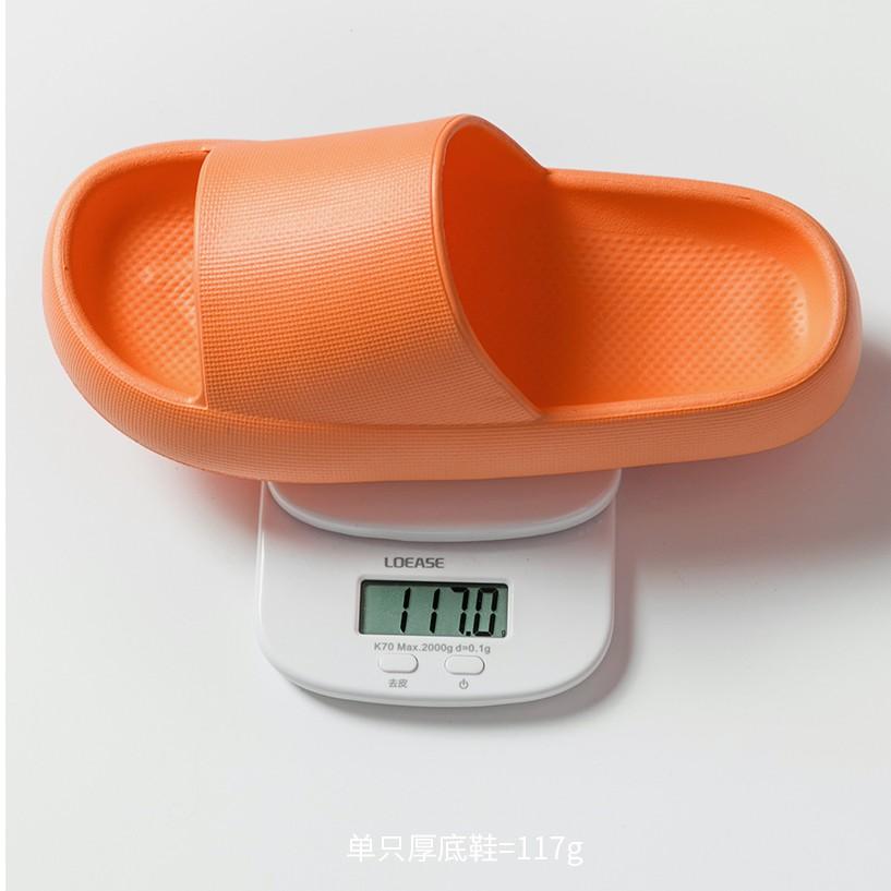 Dép nam nữ quai ngang thời trang hot taobao độn đế 5cm bánh mỳ siêu êm siêu nhẹ chống nước, trơn trượt cực hot