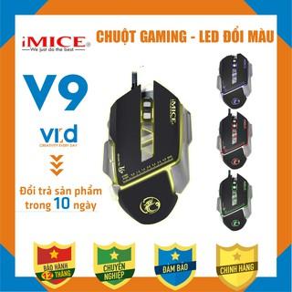 Chuột chuyên Gaming iMICE V9 Led đổi màu Độ nhạy max 3200 DPI Sản phẩm chính hãng, bảo hành 12 tháng thumbnail