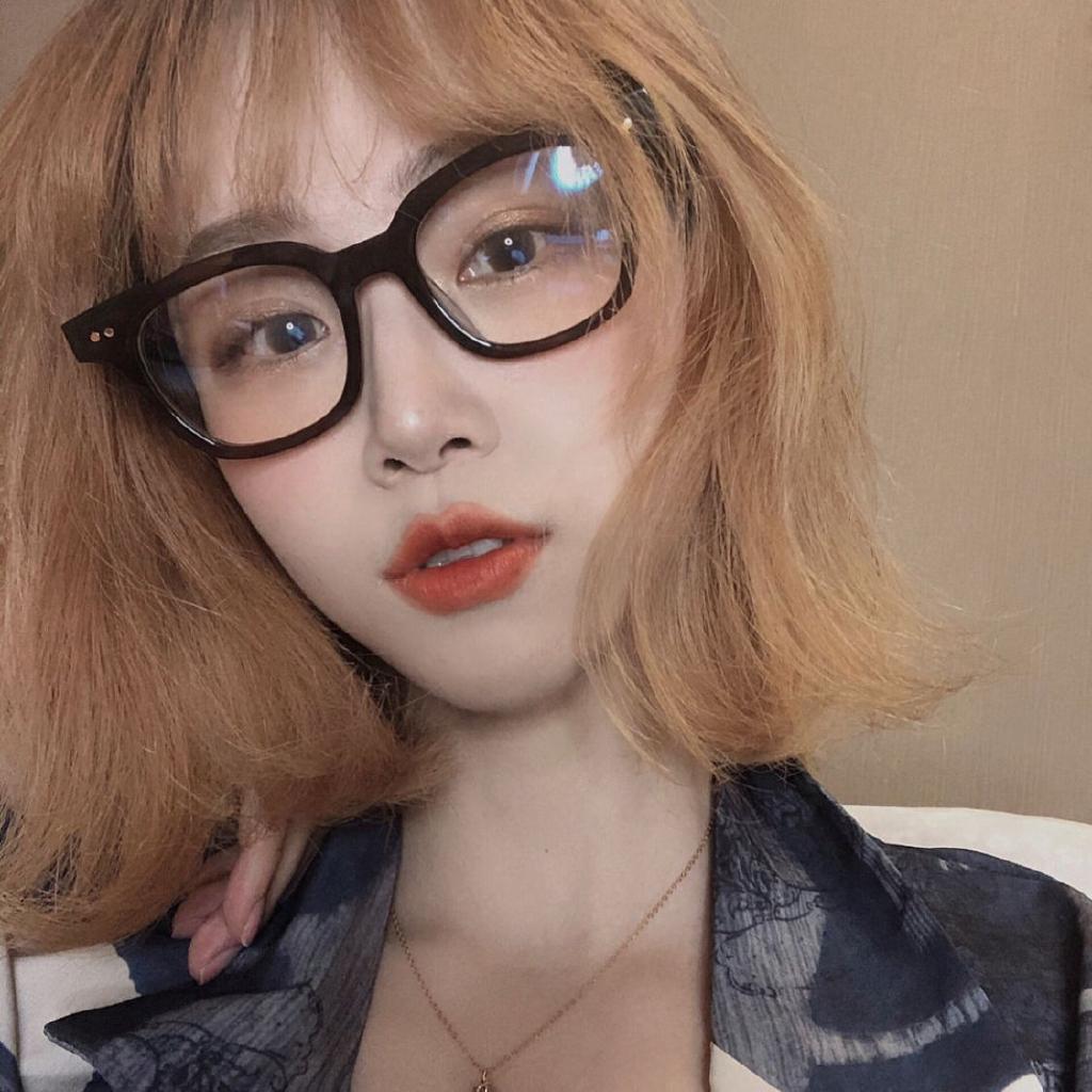 Kính cận gọng kim loại màu đen chống ánh sáng xanh phong cách Hàn Quốc cho nam và nữ