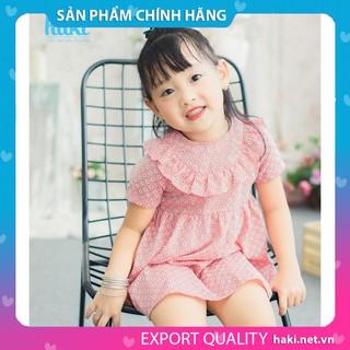 Váy bé gái_đầm cộc tay bèo ngực chính hãng HAKI HK483, váy mùa hè cho bé, váy trẻ em, váy thiết kế cho bé