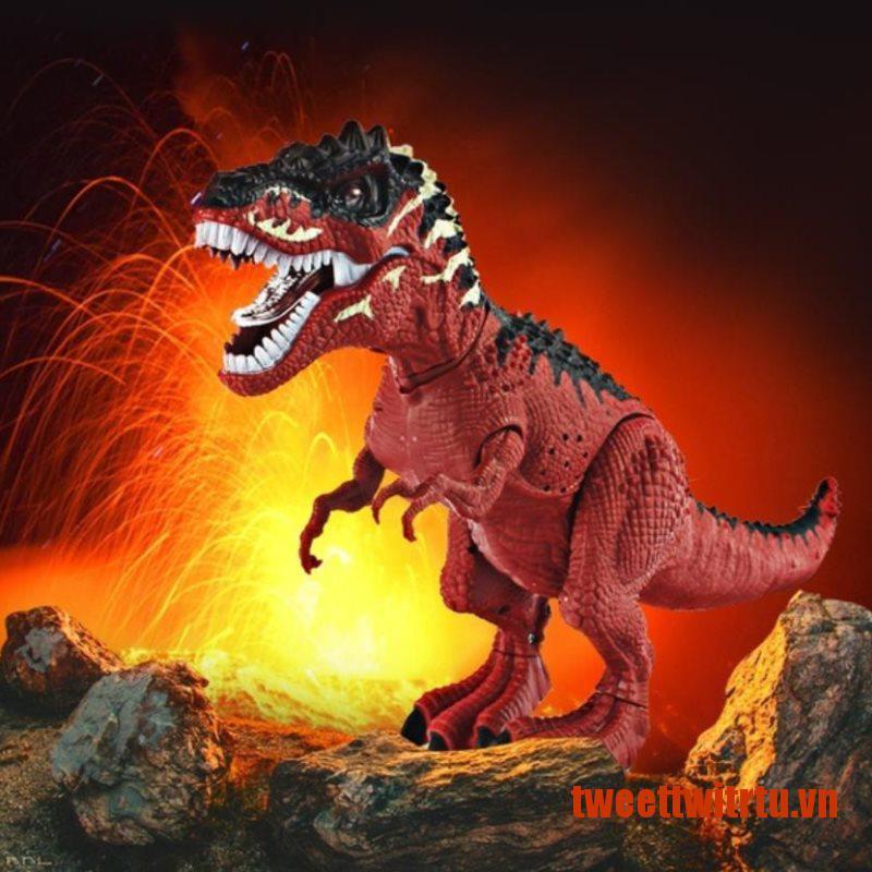 【TrTu】Electric Dinosaurs Tyrannosaurus Rex Simulation Walking Light Sounds Ani