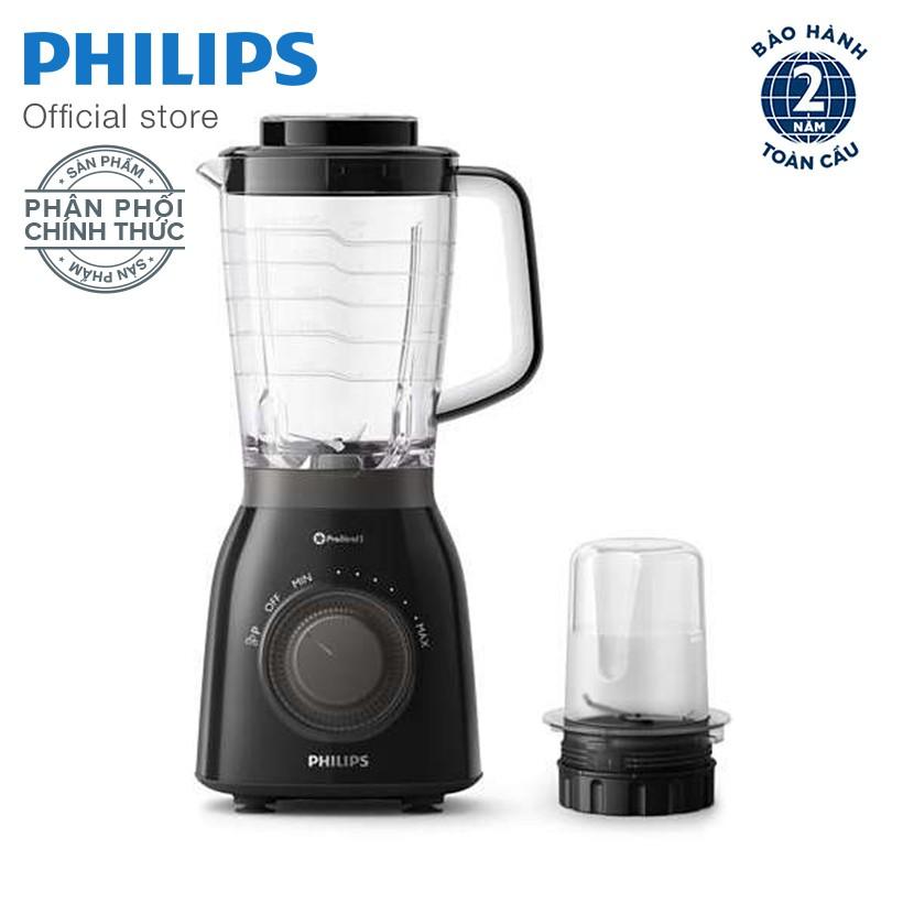 Máy xay sinh tố Philips HR2157/92 (Đen) - Hàng phân phối chính thức