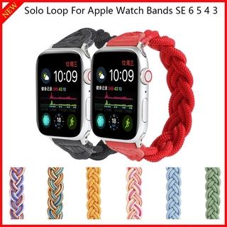 Dây đeo đồng hồ dạng vòng bện dành cho Apple 40mm 38mm 40mm 44mm Iwatch dòng 6 Se 5 4 3 2 1