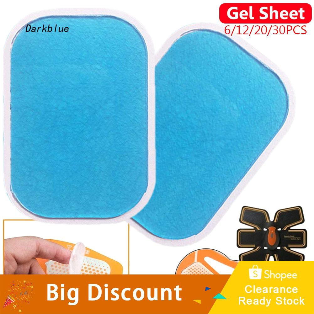 DKBL_6/12/20/30Pcs Abdominal Muscle Toner Hydrogel Pad Exercise Gel Training Patches