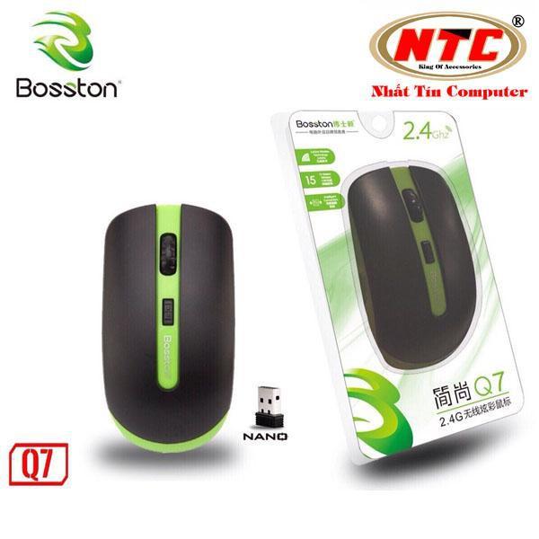 Chuột không dây Wireless Bosston Q7 + Tặng kèm pin