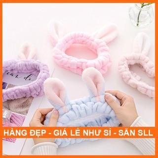 Băng Đô Cài Tóc Rửa Mặt Tai thỏ, Băng Đô Cài Tóc Tai Mèo co giãn dành cho các bạn Nữ thumbnail