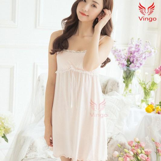 Váy ngủ 2 dây thiên thần cao cấp thương hiệu Vingo Việt Nam