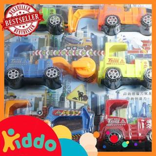 [đồ chơi trẻ em] Vi 6 xe công trình