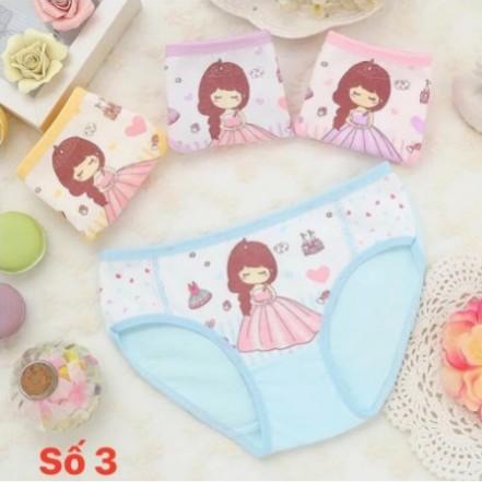 Set 4 quần chíp cho bé | Quần lót cotton cho bé gái