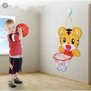 Bóng rổ treo tường mini cho bé