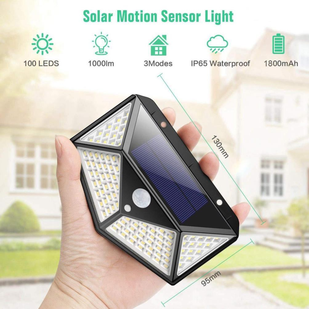 Đèn năng lượng mặt trời Solar 100LED siêu sáng