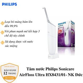 Tăm nước Philips Sonicare AirFloss Ultra HX8438 - Tăm nước du lịch cầm tay [Nhập khẩu Đức] thumbnail