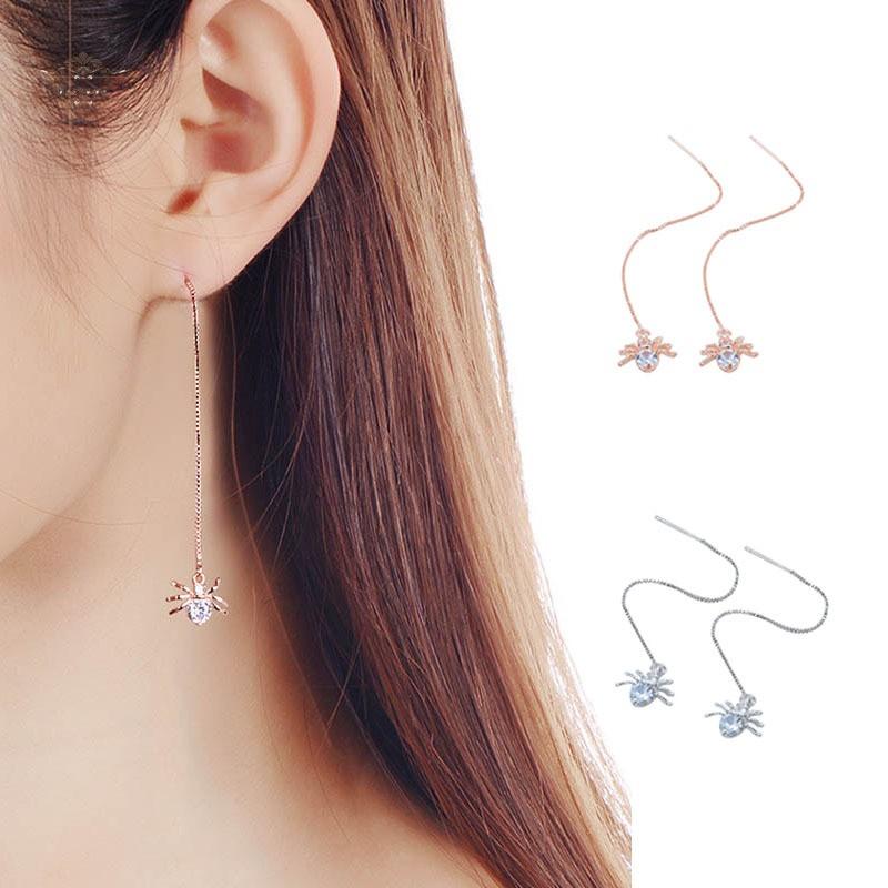 Hoa tai mặt hình nhện thiết kế thanh lịch cho phái nữ