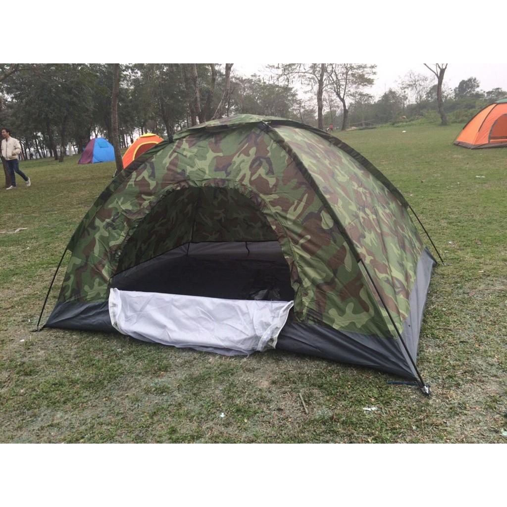 Lều Cắm Trại 4 Người Rằn Ri Bộ Đội Cực Chất, Lều Phượt..