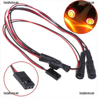 {lazy} 2LED RC 4.2v-6v light headlight headlamps devil eyes for 1/10 rc crawler scx10{bone}