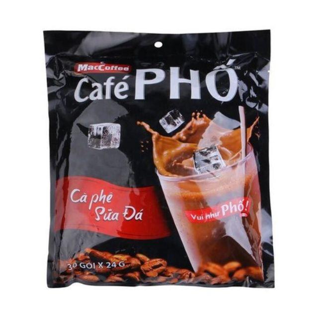 Cà phê Phố hòa tan 3 IN 1 - Cà phê Sữa đá bịch 24g x 30 GÓI - 14954202 , 2039808929 , 322_2039808929 , 105000 , Ca-phe-Pho-hoa-tan-3-IN-1-Ca-phe-Sua-da-bich-24g-x-30-GOI-322_2039808929 , shopee.vn , Cà phê Phố hòa tan 3 IN 1 - Cà phê Sữa đá bịch 24g x 30 GÓI