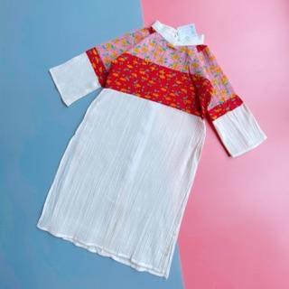 [Mã KIDMALL15 hoàn 15% xu đơn 150K] Áo dài KIFI vải xô cho bé gái
