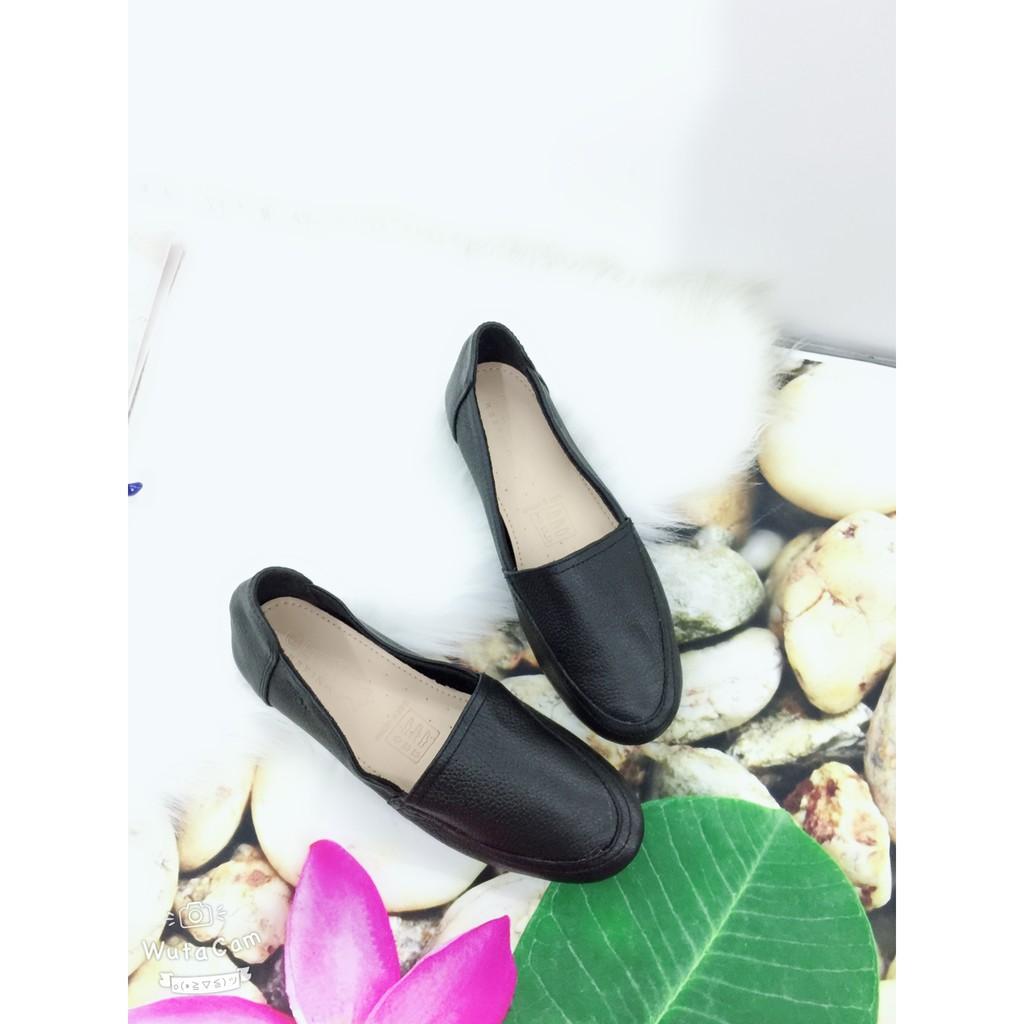 Giày búp bê da bò chống trượt, mang êm chân