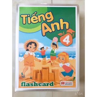FLASHCARD TIẾNG ANH LỚP 4 - In 2 Mặt Ép plastic