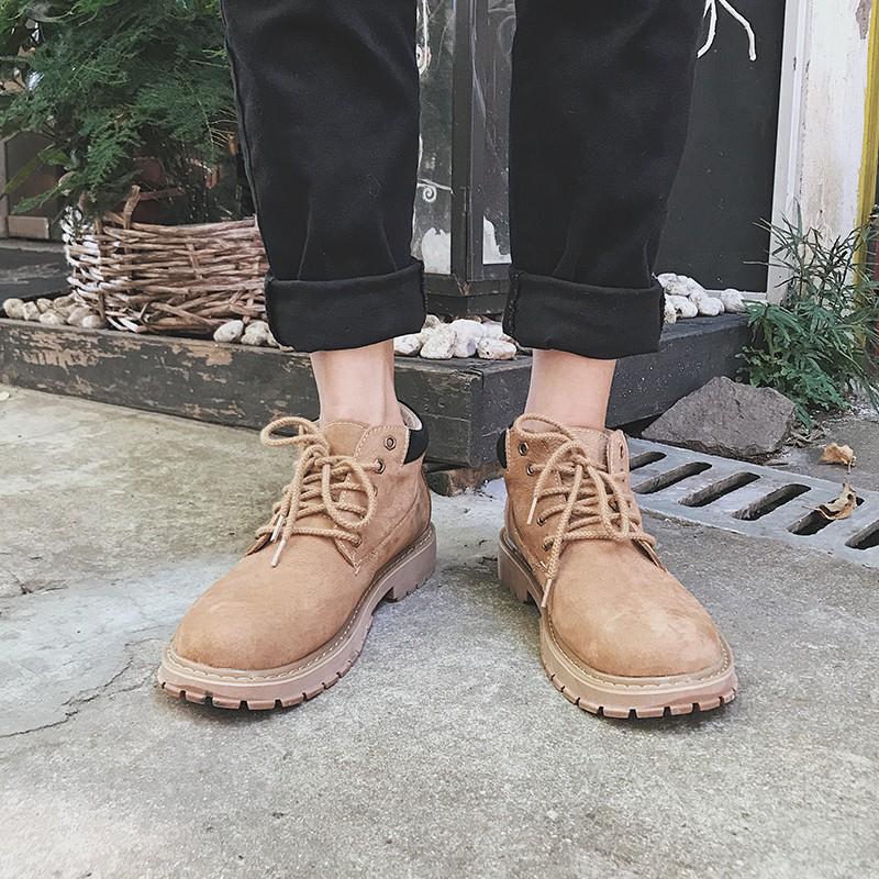 Giày bốt da phong cách retro thời trang cho nam