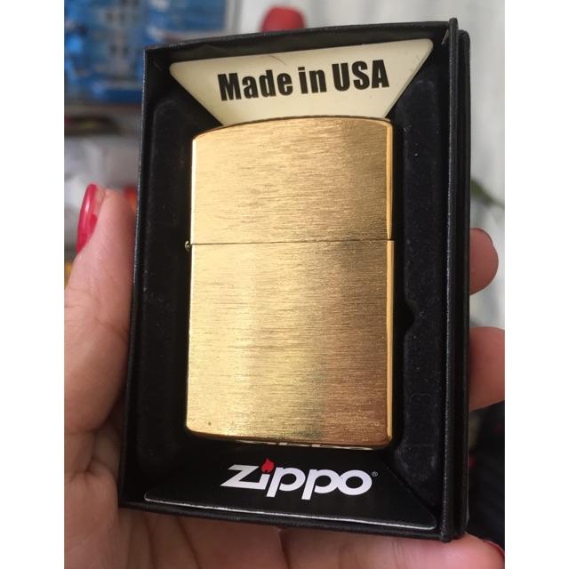 Zippo USA Vàng Xước