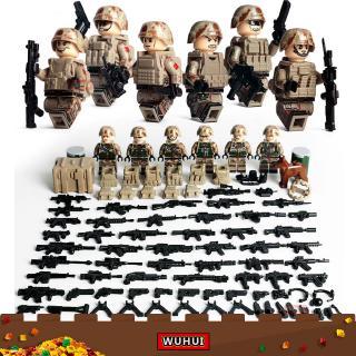Bộ Đồ Chơi Lắp Ráp Lego Mô Hình Lính Quân Đội Cho Trẻ Em Mẫu Giáo 4 +