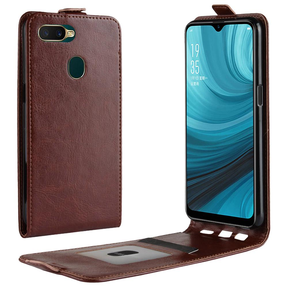 OPPO A7 luxury Flip Phone Cover Case Shell Leather Cover For Oppo AX7 With Card Slots