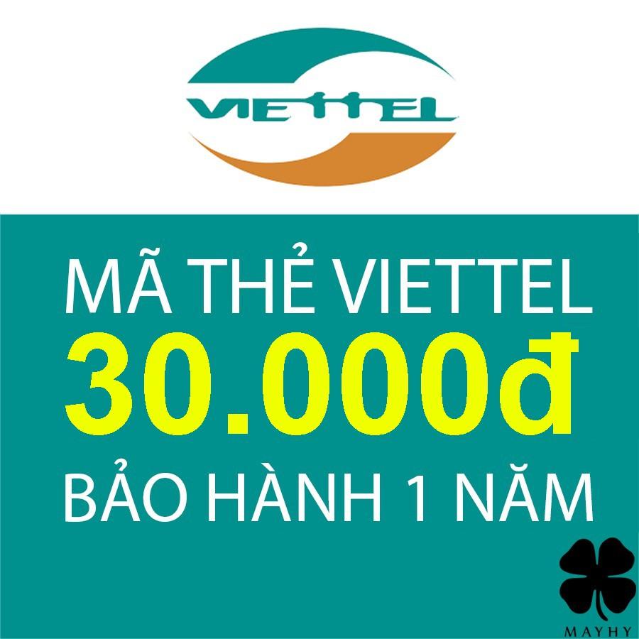 Mã thẻ Viettel 30.000