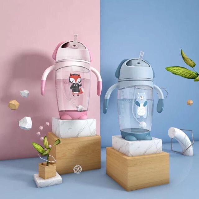 [Tặng đồ chơi] Bình uống nước uống sữa chống sặc cao cấp ALCOCO