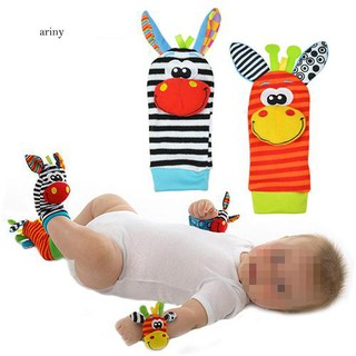 ♞Lovely Infant Baby Kids Foot Socks Rattles finders Glove Toys Developmental