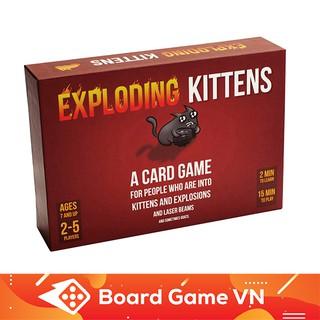 [Nhập TOYBGVN giảm 15%]Trò Chơi Thẻ bài Mèo Nổ Exploding Kittens BoardgameVN